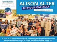 Alison Alter the PROGRESSIVE CHOICE
