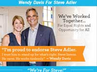Wendy Davis for Steve Adler